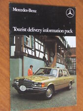 c1973 Mercedes-Benz tourist delivery info pack original 12 page brochure