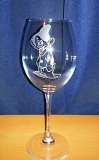 "Hand Engraved ""Dopey""  Large Wine Glass Gift Personalised Free"