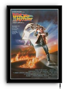 BACK TO THE FUTURE Light up movie poster lightbox led sign home cinema man cave