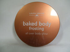 New Laura Geller Baked Body Frosting Body Glow Jumbo With Puff 0.85 oz