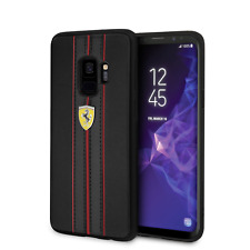 Ferrari PU Leather Hard Case Samsung Galaxy S9 Cell Phone Cover Drop Protection