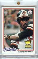 Eddie Murray 1978 Topps Baseball RC Rookie Card Baltimore Orioles #36