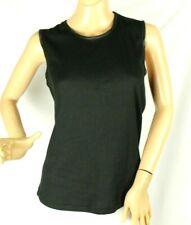 Alia Women's Black Ribbed Tank Top Shirt Size PL