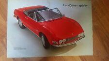 Poster FIAT DINO SPIDER - 1967