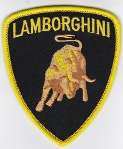 LAMBORGHINI BULL SHIELD SEW IRON ON PATCH EMBROIDERED ITALY