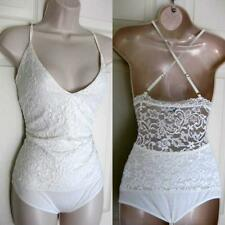 BEBE WHITE LACE BACK STRAPPY BACK BODYSUIT TOP NEW NWT XLARGE XL