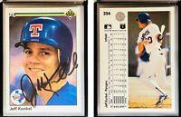 Jeff Kunkel Signed 1990 Upper Deck #394 Card Texas Rangers Auto Autograph