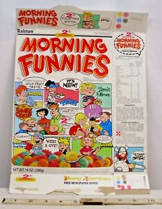 RALSTON MORNING FUNNIES CEREAL BOX 2nd COLLECTORS EDITION