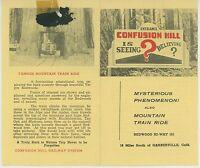 1950s Confusion Hill Travel Brochure Miniature Railroad California CA Redwoods