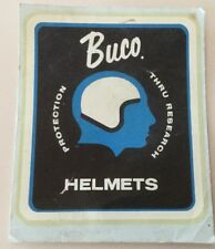 Rare Vintage Buco Helmet Decal Sticker Advertising Display