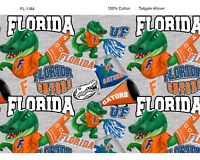 NCAA Florida Cotton Fabric-Florida Gators Cotton Quilting Fabric-FL1164