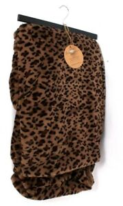 Boha House By VCNY Home 50 In X 60 In Brown Cheetah Reversible Sherpa Throw