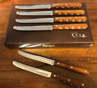 Vintage CASE XX Steak Knifes Set of 6 M 254 Miracl-Edge 2147079 w/Leather Box