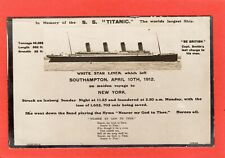 More details for in memory of s s titanic white star liner by debenham cowes rp pc unused  t978