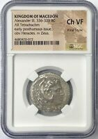 Alexander the Great 336-323BC Silver Tetradrachm NGC CH VF Fine Style