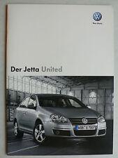 Prospekt Volkswagen VW Jetta Sondermodell United, 11.2007, 24 Seiten