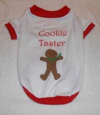 Pet Clothing Cookie Taster Christmas Shirt Size Small New
