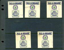 5 Vintage Minneapolis Minnesota Northwestern Lumbermen Poster Stamps (L979)