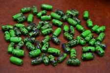 "120 PCS DYED GREEN TUBE BUFFALO BONE BEADING BEADS 1/2"" #T-1681"