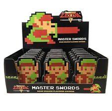 The Legend of Zelda Link Master Swords Candy Embossed Metal Tin Box of 18 SEALED