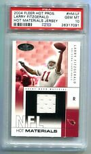 2004 Fleer Hot Prospects Larry Fitzgerald Jersey RC 129/500 PSA 10 Gem Mint