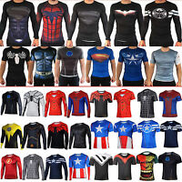 Marvel Superhero Compression Sport Tops T-shirt Men Cycling Jersey Tee Costumes