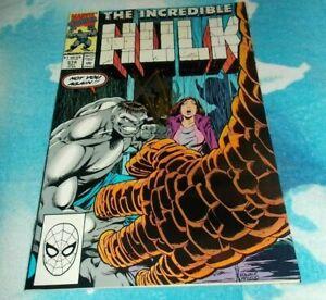The Incredible Hulk # 374 Stan Lee Signed Comic 1990 Gray Hulk