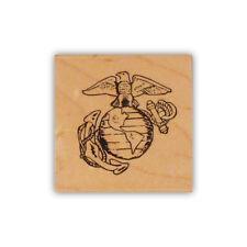 Marine Emblem mounted rubber stamp, USMC, marines, military CMS #4