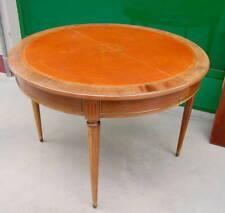 Tavolo allungabile in stile Luigi XVI in mogano diametro 110 cm completo di p...