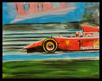 Original Automotive Artwork Formula One Painting Signed race car F1 by Max Kravt