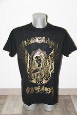 maglietta nera/dorato ED HARDY audigier città angeli TAGLIA XL ETICHETTA