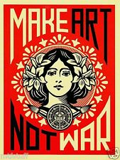 Fairey Obey Make Art Not War Silk Wall Poster  - 24x36 inches