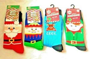 Mens Santa, Elf ,Xmas Pud ,Reindeer Christmas Socks  7-11 / One Size  New