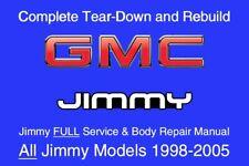 GMC Jimmy 1998 - 2005 Service Repair Workshop Manual Maintenance GM DVD