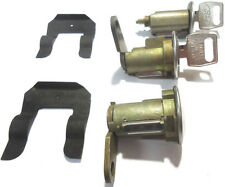 Ford Ignition Switch Lock Cylinder + Pair (2) Door Lock Cylinder W/2 Logo Keys