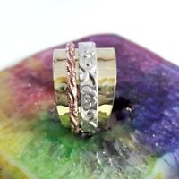 925 Sterling Silver & Copper Band Meditation Spinner Ring All Size Handmade US21