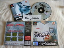 Pro Evolution Soccer 2 PS1 (COMPLETE) rare Konami football Sony PlayStation ISS