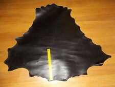 BLACK VEG TANNED Kangaroo leather skin hide 750 x 750 mm drum dyed fatliquored
