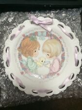 Precious Moments 1992 Mini Plate Sharing the Gift of Friendship