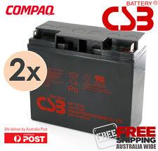 2x CSB 12V 17Ah AGM VRLA SLA Battery for Compaq T1500 T1500H PRA1400i UPS