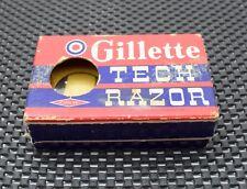 Vintage Gillette Tech Double Edge Safety Razor Case Cardboard