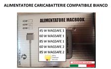 ALIMENTATORE MAC APPLE MAGSAFE 1  2 60W 85W MACBOOK AIR CARICABATTERIA PRO RETI