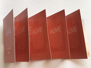 Hugo Boss Alive Eau De Parfum EDP Perfume Samples 1.2ml x5 Joblot Bundle NEW