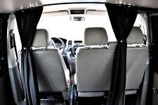 Maß Autogardinen KFZ Fahrerhaus Abtrennung Vorhänge VW T3 schwarz