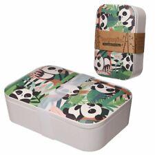 PANDA PANDARAMA REUSABLE BAMBOO ECO FRIENDLY BIO DEGRADABLE LUNCH BOX BAG *