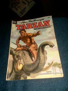 Edgar Rice Burroughs' Tarzan #60 dell comics 1954 Golden age precode jungle