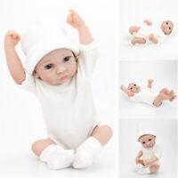 Handmade Reborn Lifelike Baby Boy Real Newborn Vinyl Silicone Doll 28cm AU POST