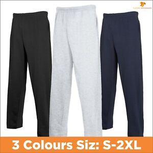 Fruit of the Loom Men's Lightweight Jogging Pants Open Hem Joggers Sweatpants