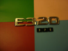 GENUINE MERCEDES BENZ E320 CHROME PLASTIC REAR BADGE EMBLEM. A 124 817 58 15