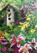 Forest Birdhouse and Flowers Outdoor Standard Flag by Evergreen #3814